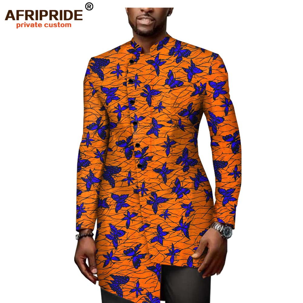 <font><b>African</b></font> ankara print <font><b>shirt</b></font> for <font><b>men</b></font> AFRIPRIDE tailor made full sleeves single breasted <font><b>shirt</b></font> 100% <font><b>african</b></font> <font><b>wax</b></font> cotton A1912005 image