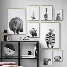 Animal Ass Zebra Rabbit Sheep Wall Art Print Canvas Painting Nordic Poster And Prints Pictures For Living Room Decor
