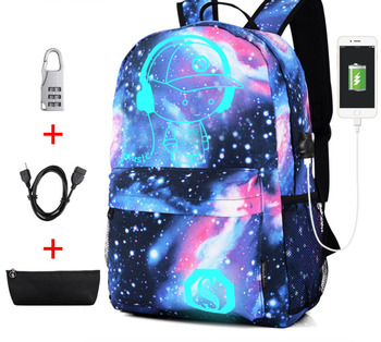 Cool Luminous School Bags for Boys and Girls Backpack with USB Charging Anime For Teenager Anti-theft