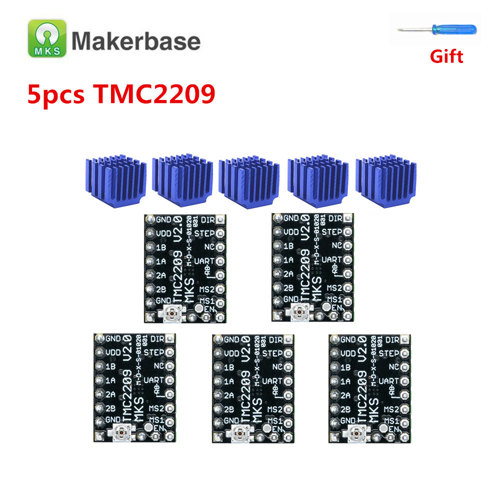 TMC 2209 stepper driver for BIGTREETECH SKR V1.3 MKS TMC2209 Stepstick engine stepping driver module silent 3d printer drivers