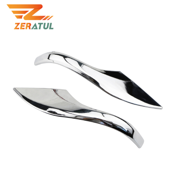 Zeratul For Toyota Corolla 2014 2015 2016 2017 Altis E170 Chrome Car Side Door Rear View Mirror Cover Trim Garnish Molding Strip image