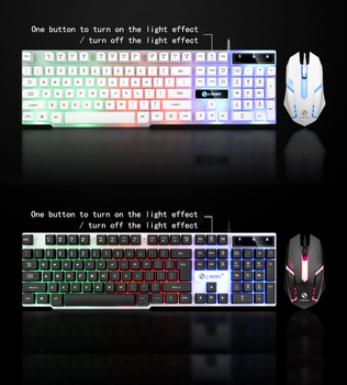 2020 Combo PC Gamer LED Gaming Keyboard And Mouse Set Wired Keyboard Gamer Keyboard Illuminated Gaming Keyboard Set For Laptop 5