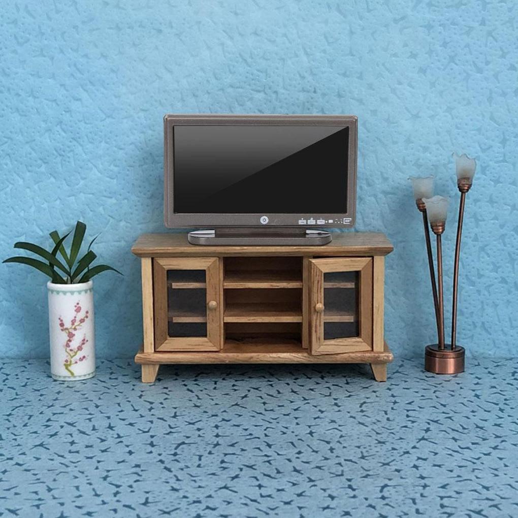 1:12 Doll House TV Remote Control Cute Mini Simulation Miniature Furniture Dollhouse Living Room Decoration Television