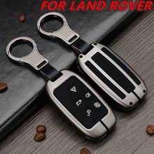 Étui de clé de voiture en alliage galvanisé, housse pour Land Rover A9 Range Rover Sport 4 Evoque Freelander 2 pour Jaguar XE XJ XJL XF