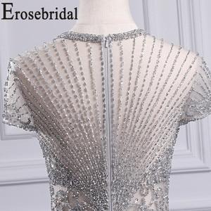 Image 5 - Erosebridal luksusowa suknia wieczorowa długa 2020 zroszony syrenka formalna sukienka dla kobiet Sexy Illusion ciało suknia wieczorowa Zipper powrót
