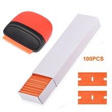플라스틱 면도기 블레이드와 EHDIS 청소 스크레이퍼 탄소 섬유 필름 포장 스퀴지 유리 스티커 접착제 리무버 색조 자동차 도구
