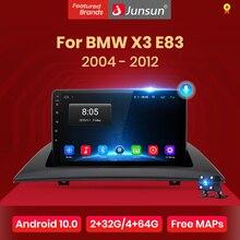 Junsun 4G + 64G Android 10 dla BMW X3 E83 2004   2012 Auto 2 din samochód Radio Stereo odtwarzacz nawigacja GPS z Bluetooth nie 2din dvd