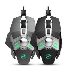 J200 mysz do gier mechaniczna USB 6400DPI 7Key definicja makro programowalne myszy przewodowe na PC Laptop