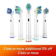 4 шт./лот, сменные насадки для электрической зубной щетки для EB-17P18202550, гигиена, уход, Чистая электрическая зубная щетка для всех круглых головок