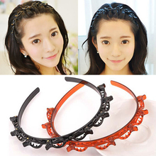 2021 Women Hairhoop HeadWear Accessories Fashion Girl Metal Rhinestone Headband Decorative Hair Band Hairstyle Hoop Ornament