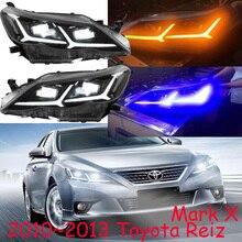 2010~ 2013y автомобильный бупмер MarkX головной свет для Toyota Reiz фары Mark X автомобильные аксессуары все в светодиодный противотуманный фонарь для Mark X Reiz фары