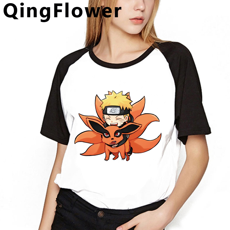 Harajuku Naruto Funny Cartoon T Shirt Women Ullzang Japanese Anime Sasuke T-shirt Cool Streetwear Tshirt Graphic Top Tees Female