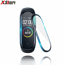 Film For Xiaomi Mi Band 4 protector soft glass for mi band 4 strap mi band Screen Protection Case Protective smart Accessories
