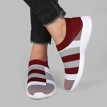 Knit sock shoes women sneakers slip-on lightweight mesh 2021 summer sneakers woman shoes platform breathable