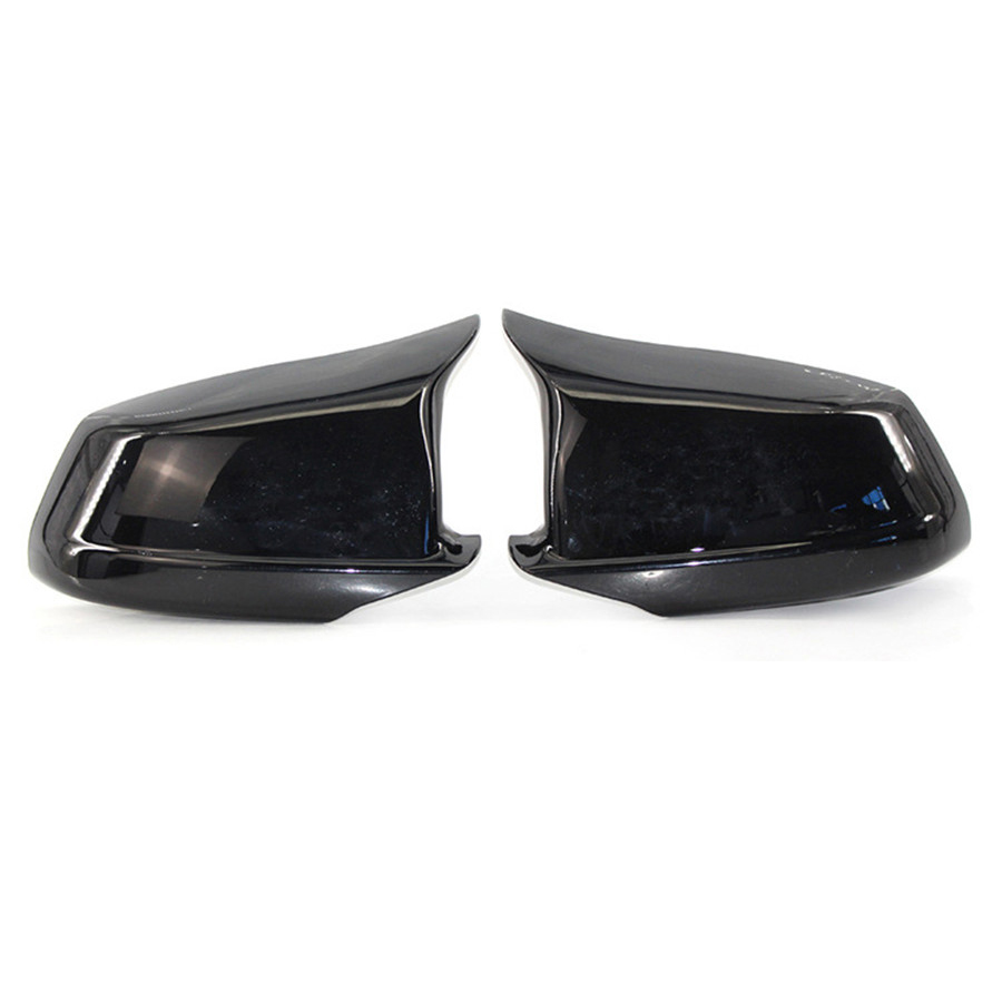 2pcs Rear View Mirror Cover Door Side Wing Mirror Cover Cap Glossy Black For BMW 5 Series F10/F11/F18 Pre-LCI 2011-2013