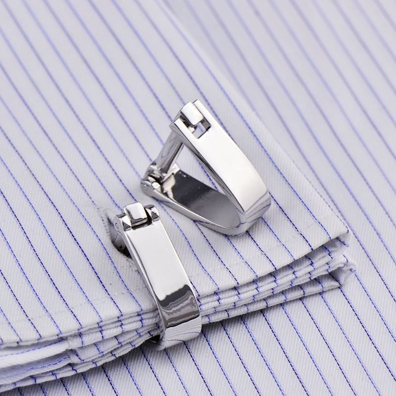 Metal Bow Chain Cufflinks Quality Creative Novelty Men's Suits French Shirt Business Wedding  Cuff Links Trendy Classic