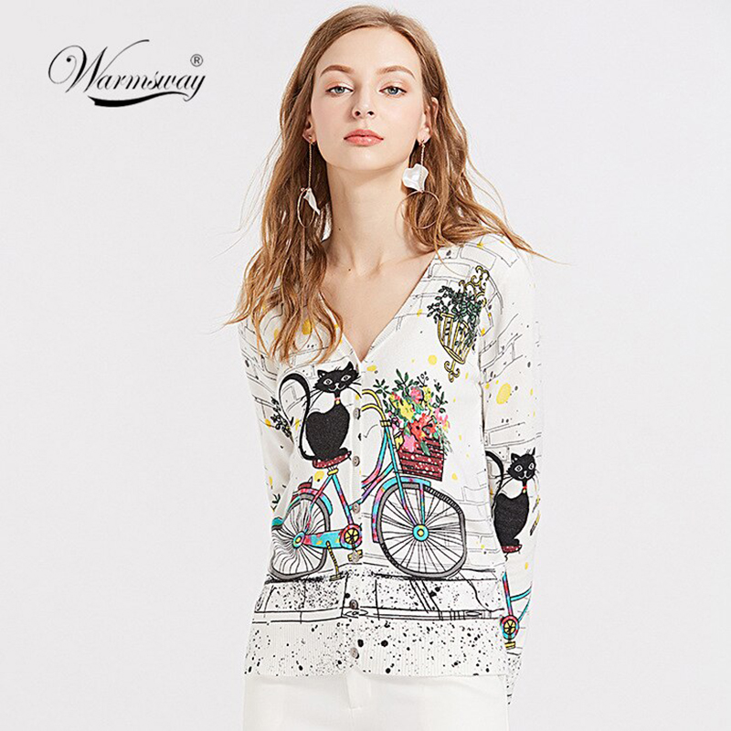 New 2020 Spring Autumn Cardigan Korea Style Women Sweater Thin Long-sleeve Knitted Sweater Women Clothing B-074