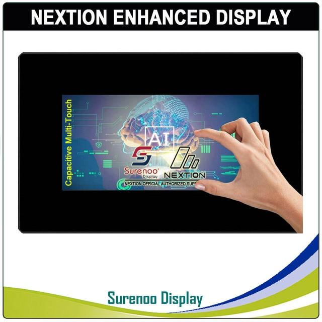 """7.0 """"nextion reforçada hmi usart série tft lcd módulo display resistive painel de toque capacitivo com gabinete para arduino rpi"""