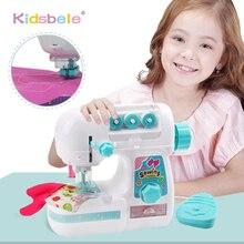 Çocuklar simülasyon DİKİŞ MAKİNESİ oyuncak Mini mobilya oyuncak eğitim öğrenme tasarım giyim oyuncaklar yaratıcı hediyeler kız çocuklar için
