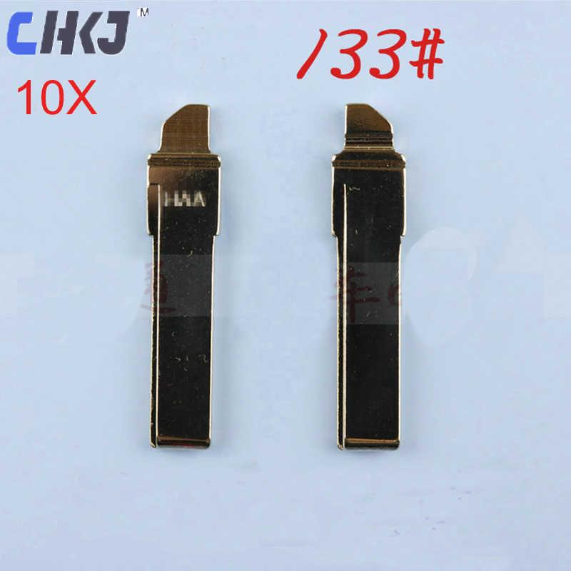 CHKJ 10 шт./партия HU66 без выреза пустой авто лезвие для Volkswagen Golf 7 MK7 для Skoda Octavia A7 пульт дистанционного управления для Audi A6 Автомобильный ключ 133 #