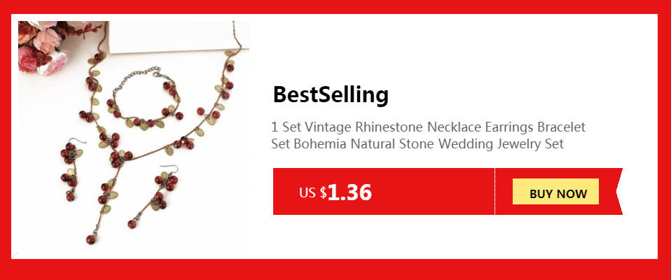Elegant Vintage Opal Stone Jewelry Set Fashion Pendant Necklace Set Antique Silver 4Pc Jewelry Party Costume Jewelry Sets 5