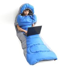 Sleeping Bag Backpacking Outdoor Camping Hiking Envelope Quilt with Cap