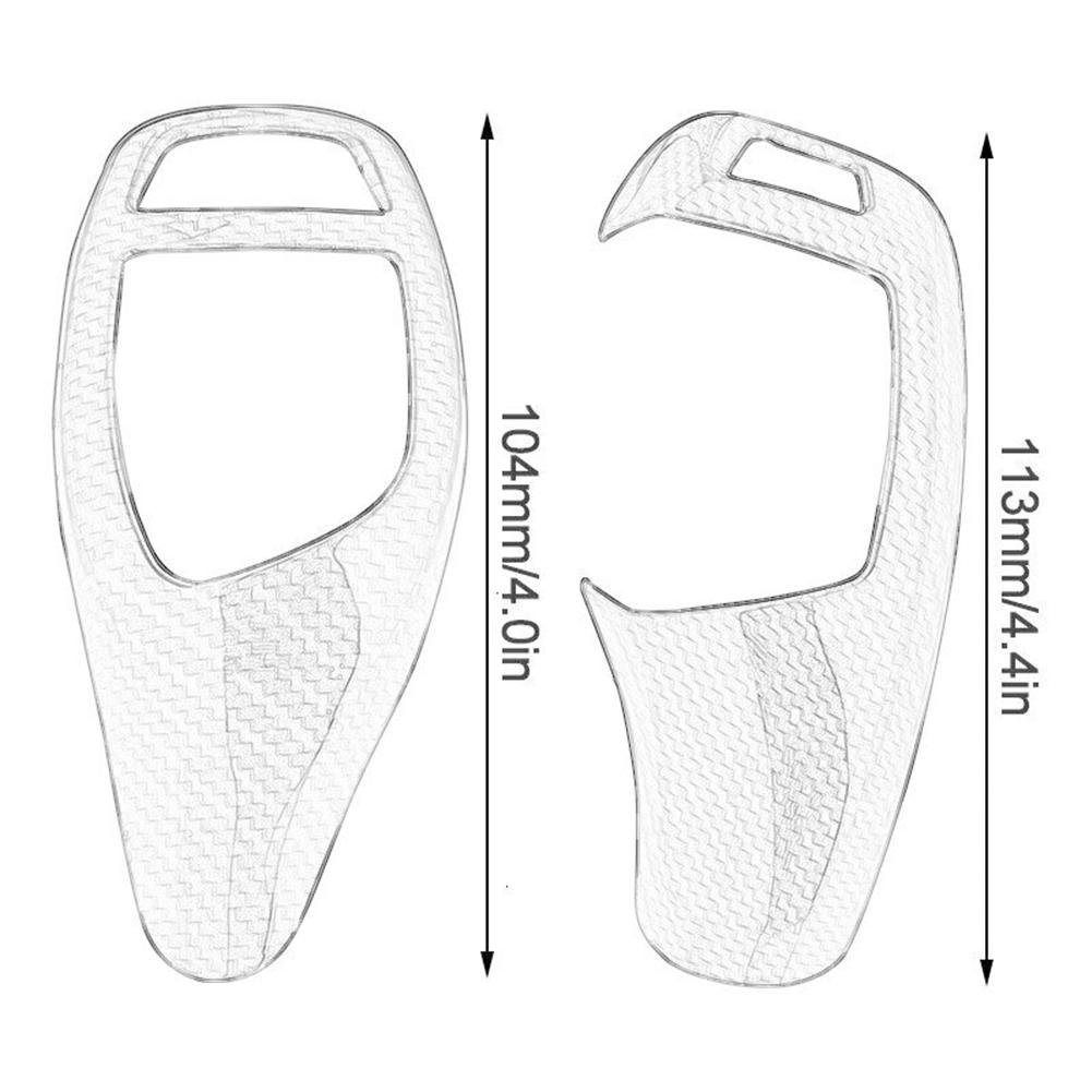 Alician Carbon Fiber Gear Shift Knob Cover Fits for BMW F20 F30 3 F10 F32 F25 F1X5 X6 F16 Common