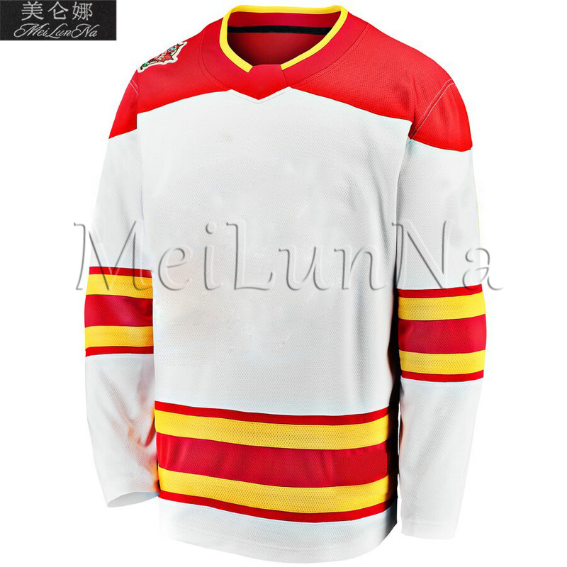 Mark Giordano Sean Monahan Johnny Gaudreau Matthew Tkachuk Mikael Backlund Milan Lucic White 2019 Heritage Classic Hockey Jersey