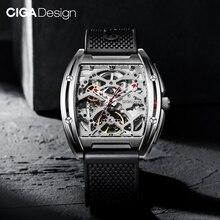 Ciga Ontwerp Z Serie Skeleton Automatische Mechanische Horloge Roestvrij Staal Case Sapphire Crystal Horloge Siliconen Band Verison