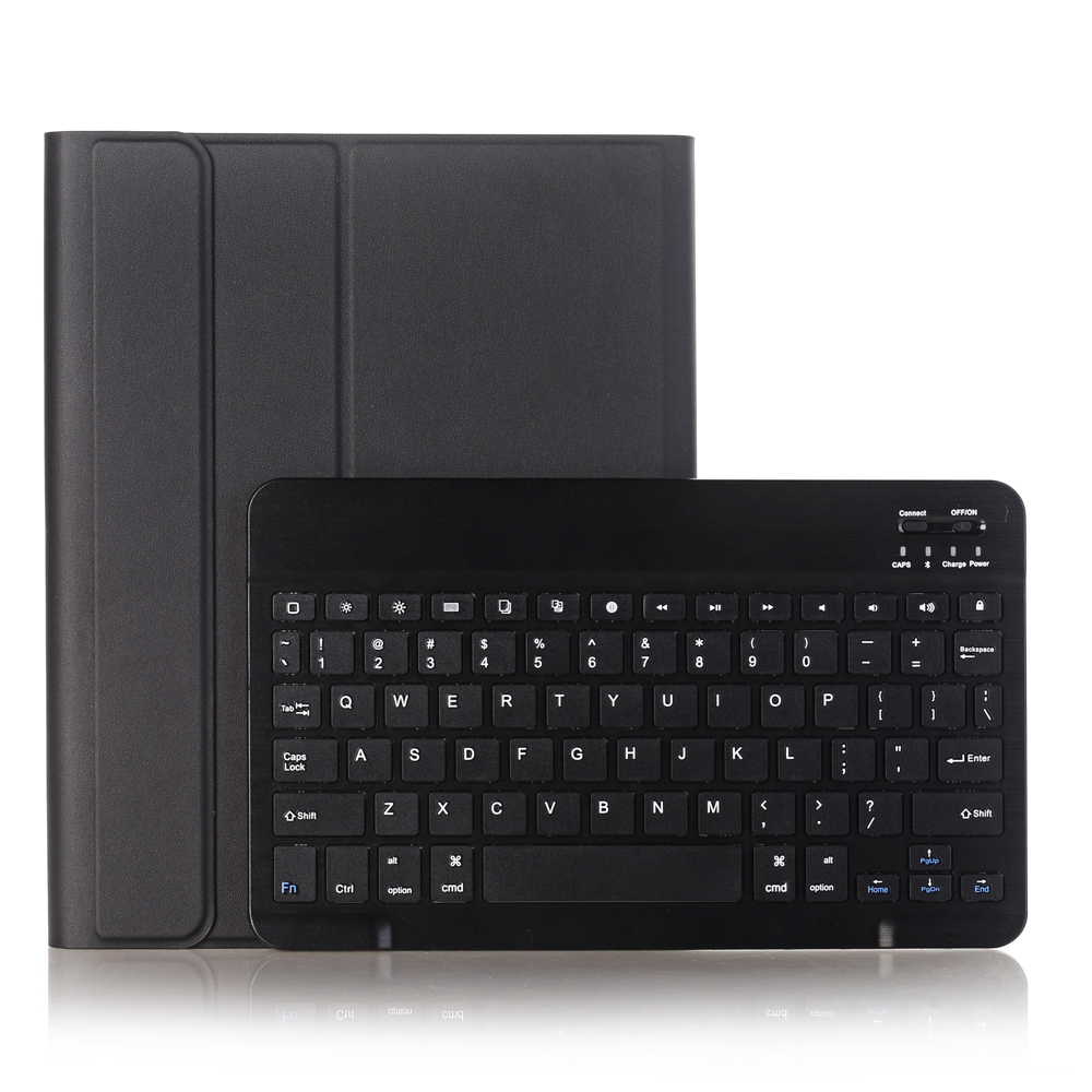 Black with Black Red For iPad 10 2 2019 2020 Keyboard Case with Pencil Holder for Apple iPad 7th 8th