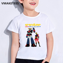 T-Shirts Short-Sleeve Baby Clothes Funny Print Anime Girls Boys Kids Summer Japan Robot-Grendizer