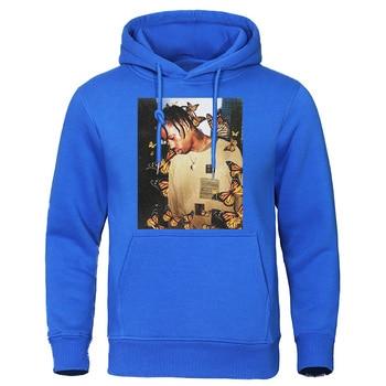 2019 Autumn Winter Men's Hoodies Travis Scott Butterfly Fashion Tracksuit Effect Rap Music Sweatshirts Man Pullover Hip Hop Tops 6