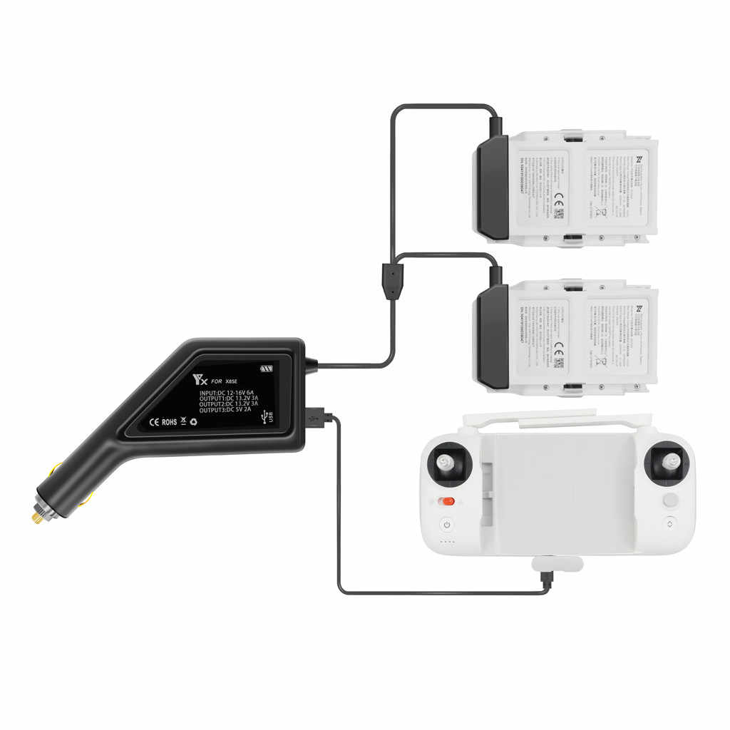 新3で1 usb車の充電器リモコンバッテリー充電器fimi X8 seドローン高品質高速充電器 # G30