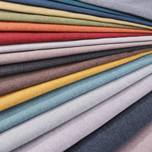 Linen Sofa Fabric Textile Material Solid Sabric for Furniture DIY Sewing Plain Upholstery Cloth