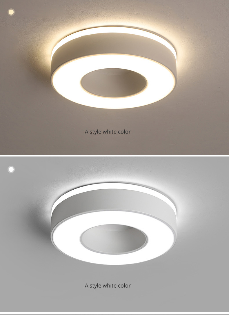 H0d1e91c60c4b4955a347d8104421a768R Living Room Ceiling Lights | Drop Ceiling Lights | LED Ceiling Light Corridor Art Gallery Decoration Front Balcony Lamp Porch White Black Power 18W