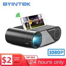BYINTEK K9 מיני 1280x720P נייד וידאו מקרן LED מקרן Proyector 1080P 3D 4K קולנוע (אפשרות רב מסך עבור Iphone