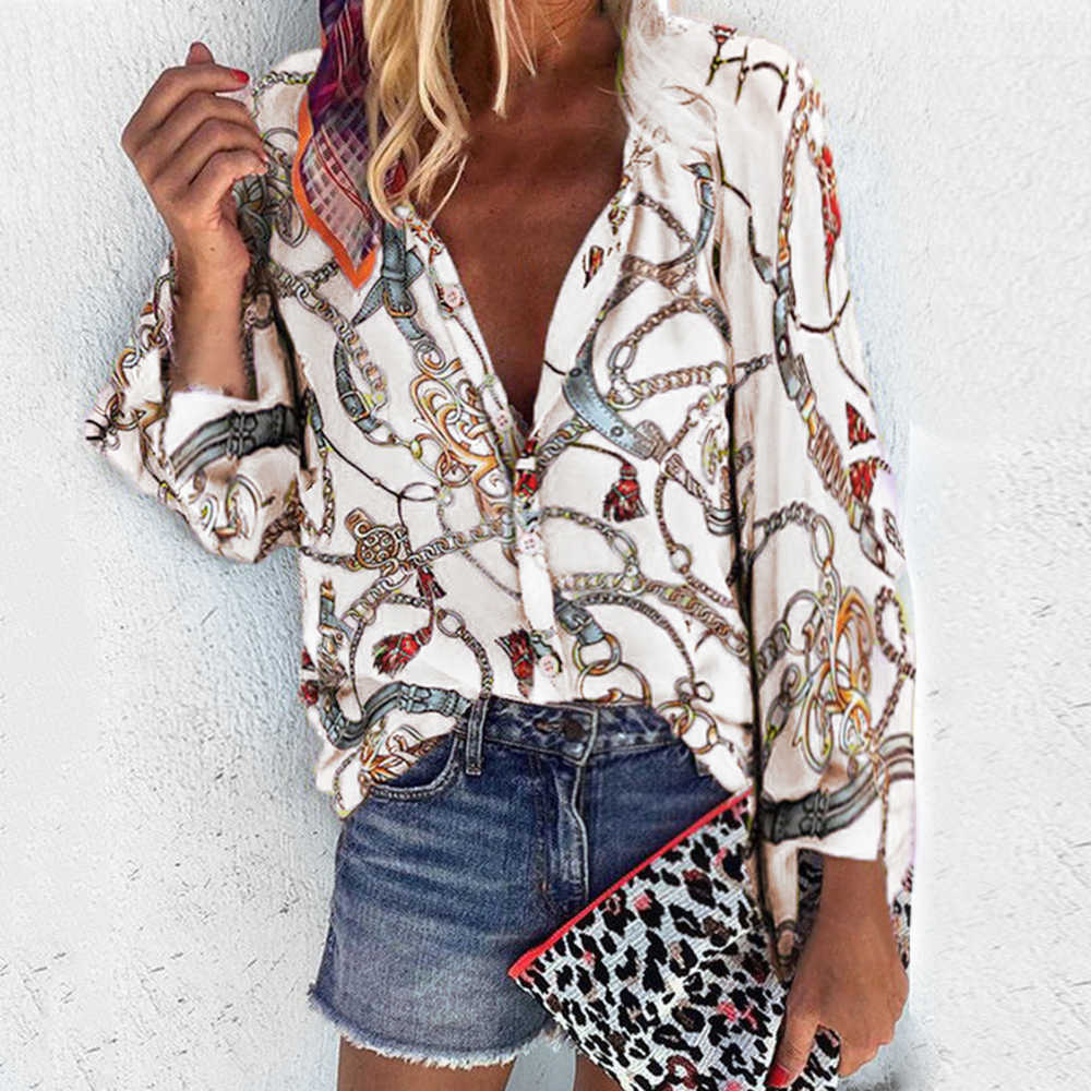 Cysincos 女性ブラウス 2019 ファッション長袖ターンダウン襟シャツシフォンオフィスブラウススリムカジュアルプラスサイズ S-5XL
