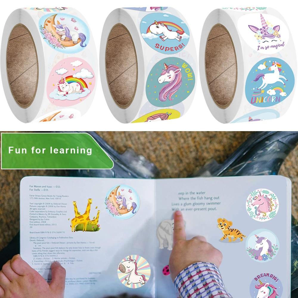 Kawaii Children Stickers Cute Anime Unicorn Mermaid Animal Reward Kids Stationery Stickers Girls Gift School Teacher Supplies