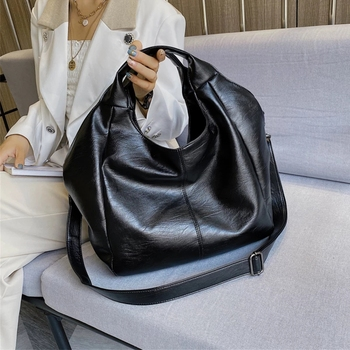 FUNMARDI Soft Leather Crossbody Bags For Women Shoulder Bag Big Hobo 2021 New Handbag Large Female Lady Vintage WLHB2223