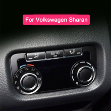 Cubierta de perilla de aire acondicionado trasero, Panel decorativo, anillo de cubierta metálica para Volkswagen Sharan, accesorios para automóviles, 1 ud.