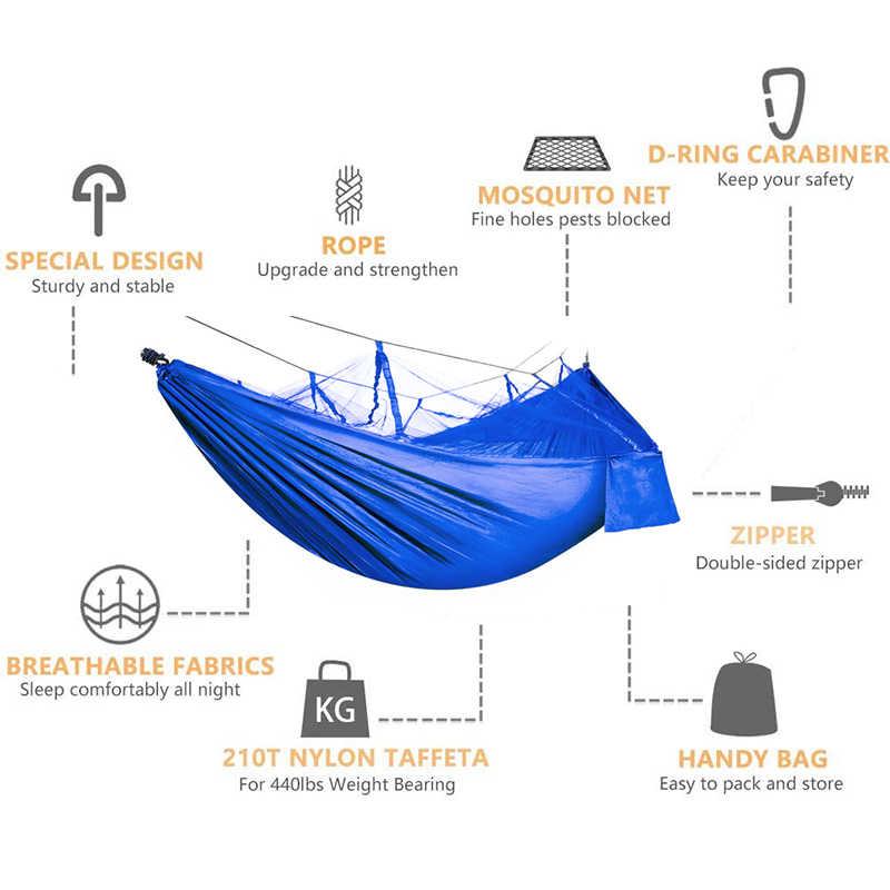 נייד ניילון חיצוני ערסל קמפינג הישרדות עבור אנשים כפולים נסיעות מצנח Garten נדנדה בד גודל: 210T ניילון אחת