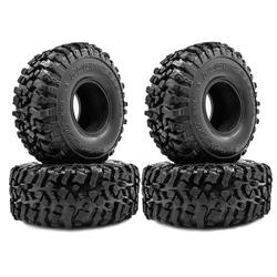 4PCS 120MM 1.9 Rubber Rocks Tyres Wheel Tires for 1/10 RC Rock Crawler Axial SCX10 90046 AXI03007 Traxxas TRX4 D90 MST