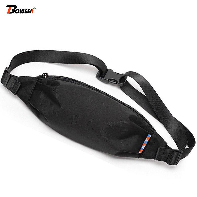 2020 Waist Bag Men Fanny Packs Lightweight Oxford Waist Pack Small Hip Chest Belt Bag Casual Outdoor Running  Men's Phone Pouch