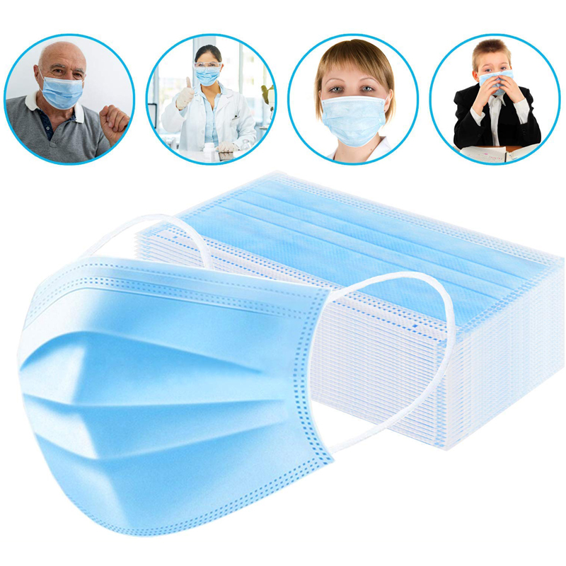 3 Layer Disposable Medical Mask Sterilization Sanitary Masks Anti Dust Breathable Earloop Protective Mouth Face Mask FedEx Ships