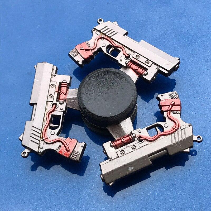 Fidget Spinner Electroplate Finger-Focus Metal Toy Tri Smooth for Kids Gift Hybrid-Bearing-Toys img4