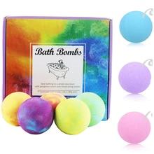 Bath Salts Ball Organic Fizzy Bombs Set Handmade 9Pcs/set SPA Stress Relief Exfoliating Whitening Body Scrub Spa