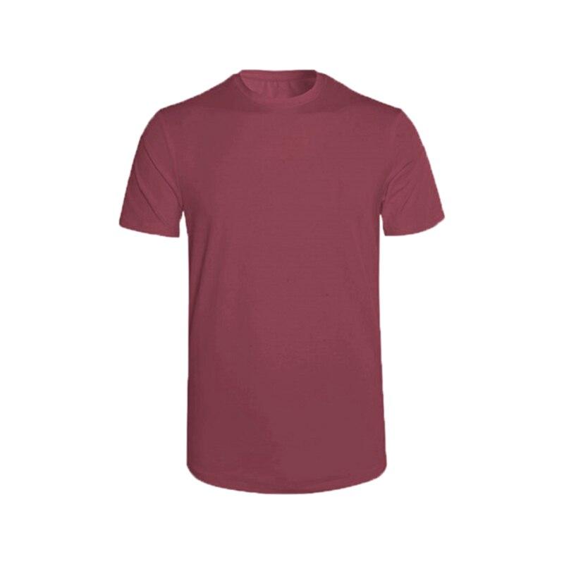 2020 new solid color T-shirt men's fashion 100% cotton T-shirt summer short-sleeved T-shirt boy skating T-shirt