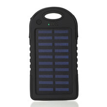 Tenaga Matahari 12000 MAh Power Bank Portable Solar Panel Dual USB Battery Pack Charger Pengisian LED Baterai Charger untuk IPhone5 6 7 8 X(China)