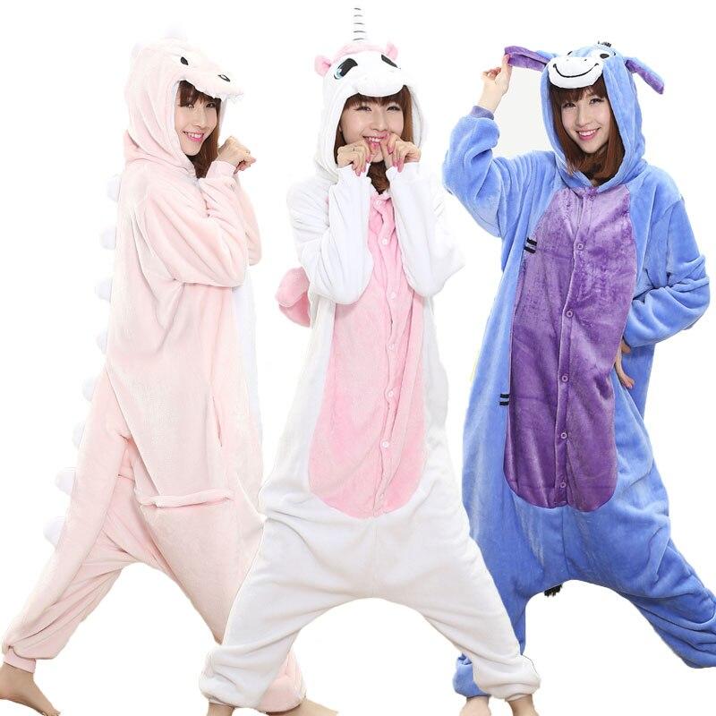 Anime Onesie Adult Men Women Unicorn Sleepwear Pajama Soft Fancy Unicornio Pijima Overall Nightwear Onepiece