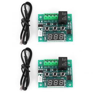2pcs W1209 Digital Temperature Controller DC 12V Digital Thermostat Waterproof Sensor Temperature Control Switch -50~110°C